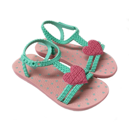 Aqua Pink 'My First Ipanema' Heart Sandal