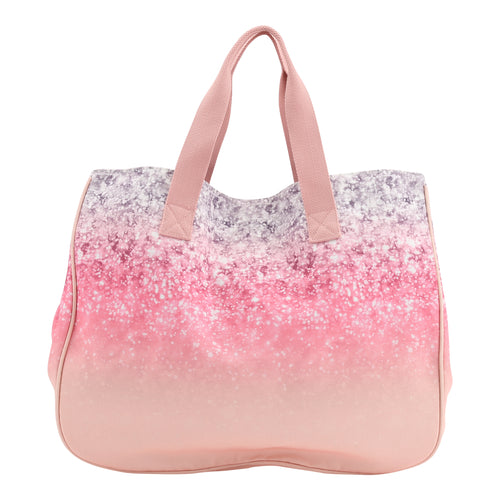 Large Digital Glitter Print Beach Bag