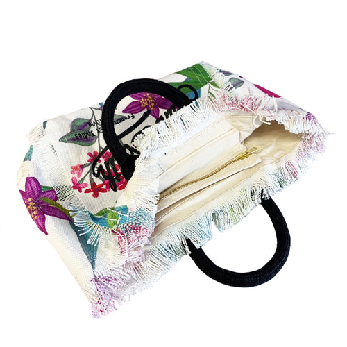 Tropical Paradise Print Beach Bag