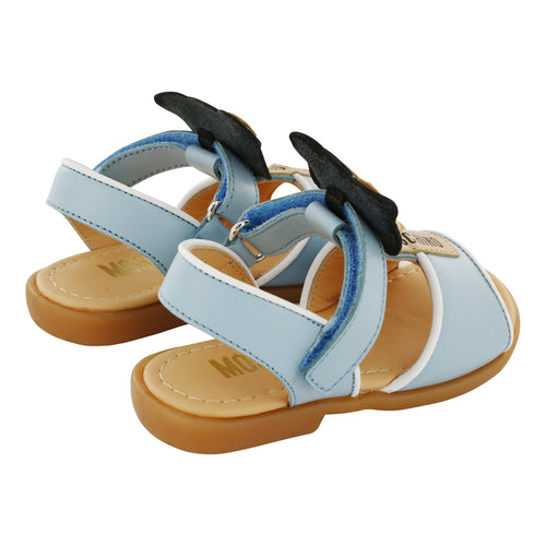 Leather Blue Moschino Teddy Sandals
