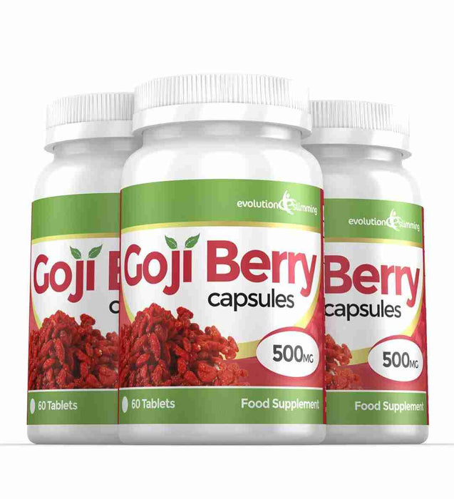 Goji Berry Capsules 500mg 3 Bottles
