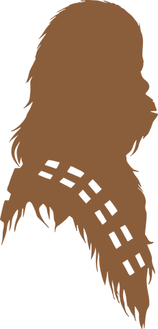 Chewbacca Silhouette | Star Wars SVG DXF EPS PNG Cut File | Cricut and Silhouette Machines