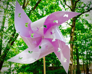 "Waterproof Cutout Butterfly Extra Large 17"" Pinwheels"