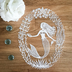 Mermaid Original Papercut