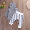 2pcs New autumn baby girl Boys clothes set Newborn Baby Boy Girl Warm Hooded Coat Tops+Pants Outfits Sets