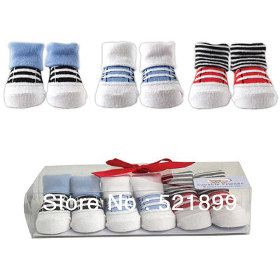 Top Fashion New Active Baby Socks 3 pairs/lot Baby Little Shoe Infant Wear Socks Gift Set 0-9m