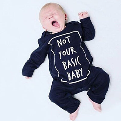 Funny Newborn Baby Boys Girls Clothes long Sleeve Romper Cotton Letter Jumpsuit Outfits For Spring Autumn