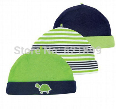 New Arrival Baby Accessories TURTLE Baby Hats & Caps For Boy 3 Pieces