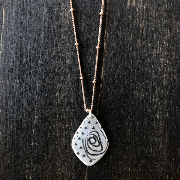 Jester Swink - Roses in Sterling Necklace