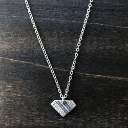 Jester Swink - Silver Triangle Lace Pendant Necklace
