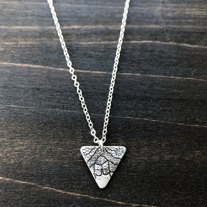 Jester Swink - Silver Triangle Lace Necklace
