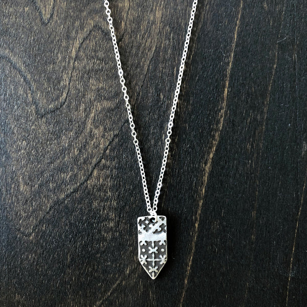 Jester Swink - Double Sided Arrow Pendant with Texture - Front