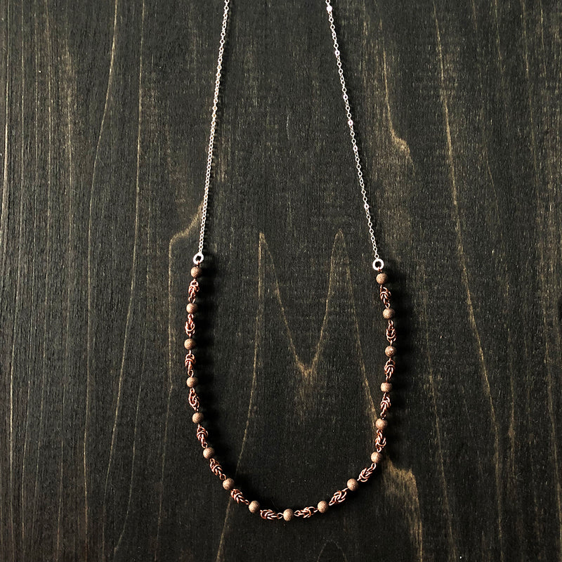 Jester Swink - Delicate Copper and Sterling Chain To Layer