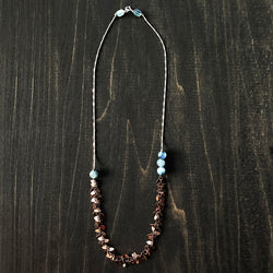 Jester Swink - Sterling, Copper and Kyanite Necklace