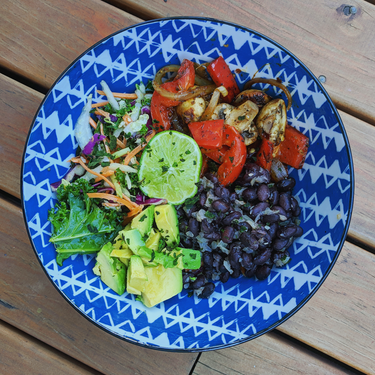 Mixed Vegetable and Black Bean Bowl