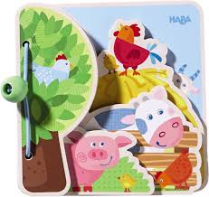 Haba, HABA BABY BOOK FARM FRIENDS - James & Olive