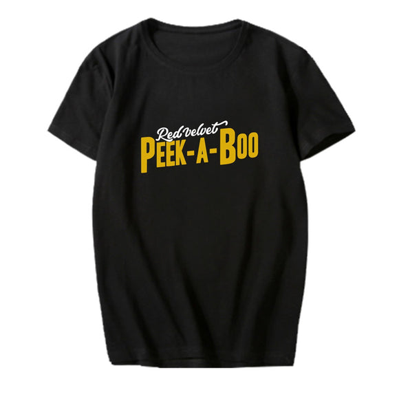 RED VELVET Peek-A-Boo Cotton T-shirt