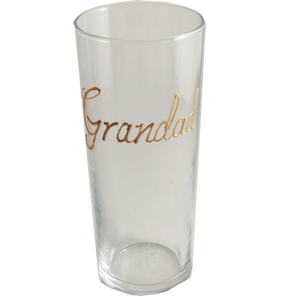 Personalised Wording Gift Pint Glass: (Gold)