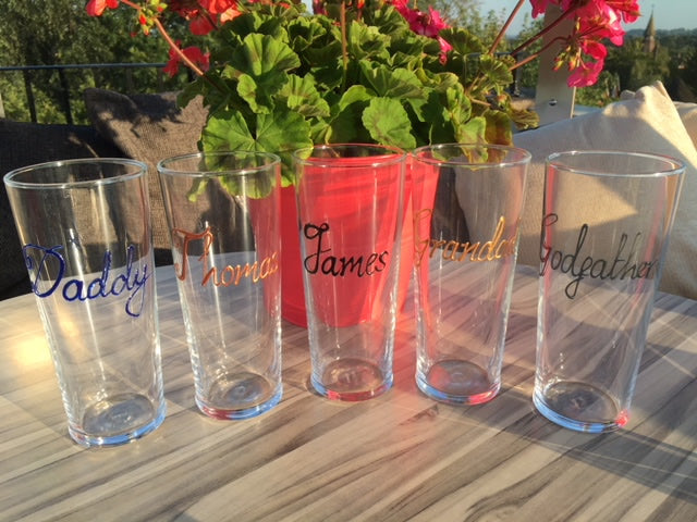Personalised Wording Gift Pint Glass: (Silver)