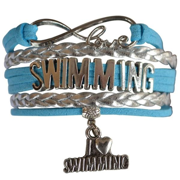 Girls Swim Infinity Bracelet Gift For Swimmers - Sportybella