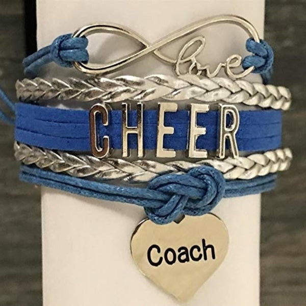 Cheer Coach Infinity Bracelet - Pick Colors - Sportybella