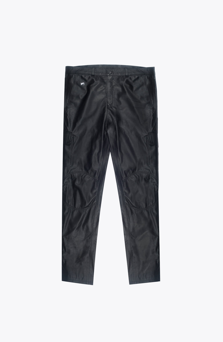 leather cargo pants