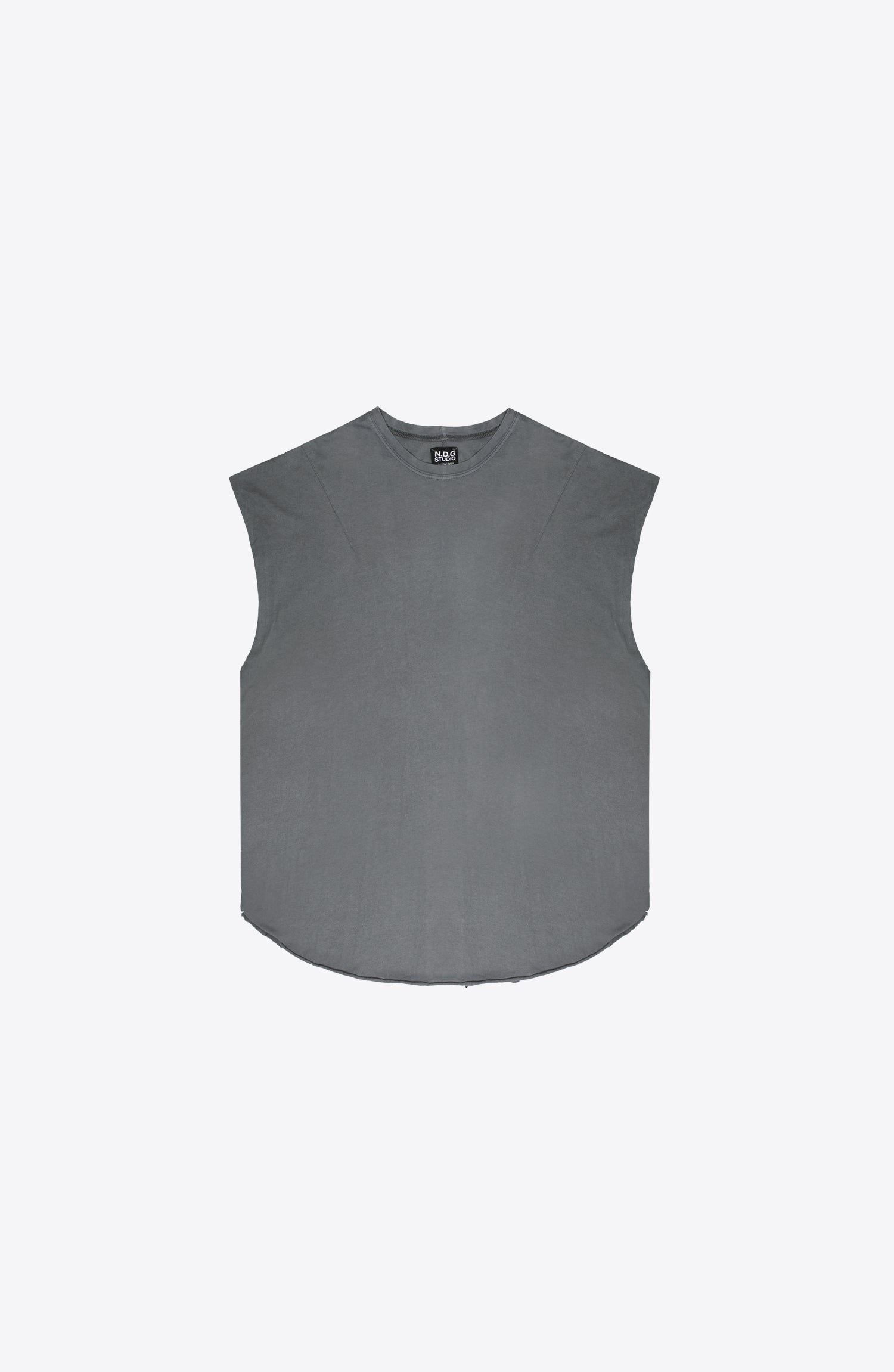 SLEEVELESS GREY TEE