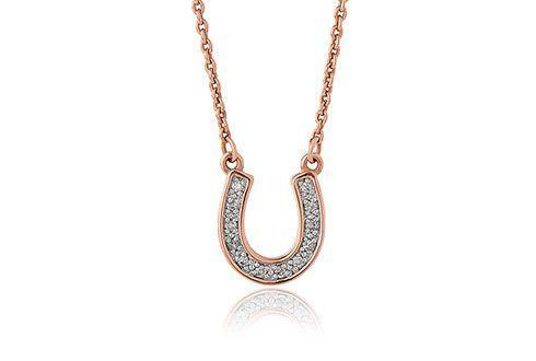 Grace Rose Horseshoe Necklace