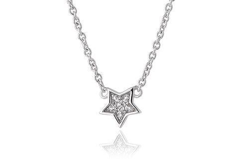 Grace Silver Star Necklace