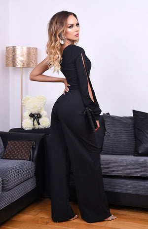 jumpsuit One shoulder with belted waist detail jumpsuit One shoulder with belted waist detail