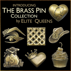 Brass Pin Collection: Monique's Crowned Heart