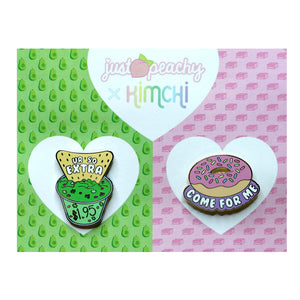 "Kim Chi ""Foodie"" Pin - Set of 2 (Posh Pre-Owned)"
