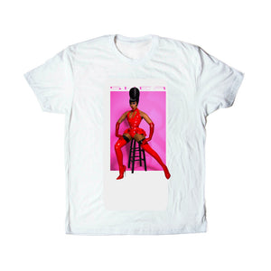 "Shea Couleé ""Latex"" Tee in White - Medium (Posh Pre-Owned)"