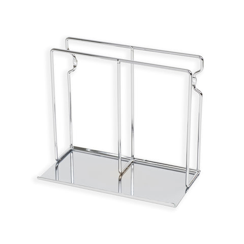 POCHE Tablet Stand Vinyl Rack File and Magazine Holder – Chrome