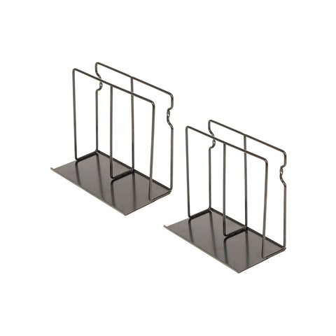 POCHE Tablet Stand Vinyl Rack File and Magazine Holder – Set of 2 – Black