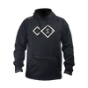 Front view of black performance hoody by STRYK Fishing Apparel