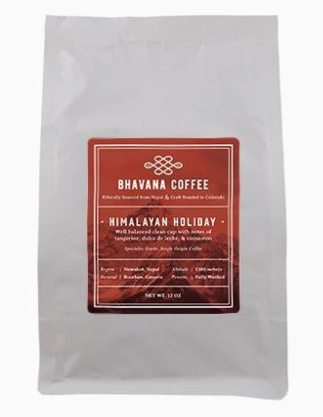 Holiday Edition - Nepal Himalayan Holiday Roast, 12oz single origin whole bean coffee