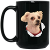 WB6514B Bubba Dog BM15OZ 15 oz. Black Mug