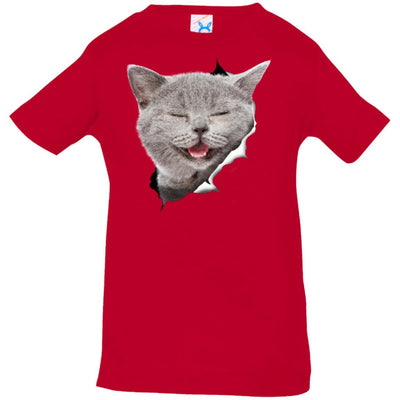 Grey Cat Laughing Infant Jersey T-Shirt