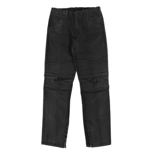 COATED BIKER BLACK DENIM