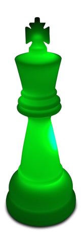 MegaChess 26 Inch Premium Plastic King Light-Up Giant Chess Piece - Green |  | MegaChess.com