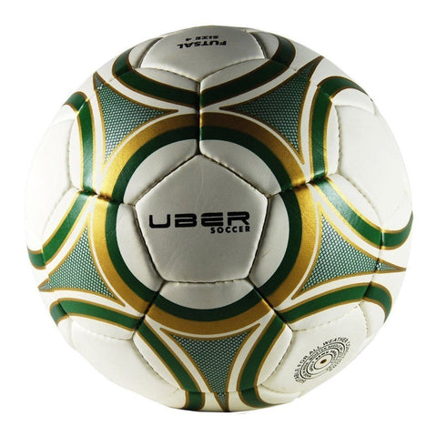 Uber Soccer Futsal Ball - Matte Finish - Green/Gold - UberSoccer