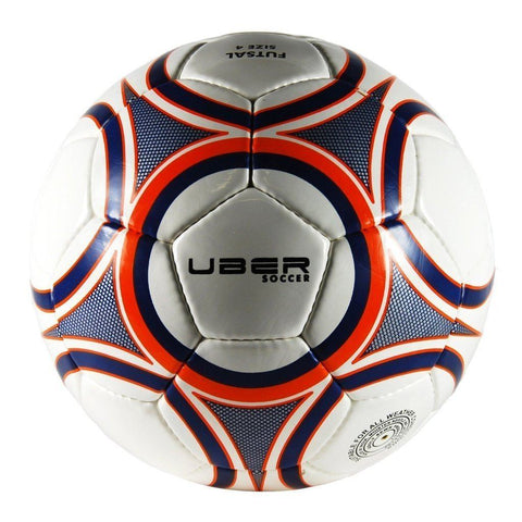 Uber Soccer Futsal Ball - Glossy Finish - Navy/Orange - UberSoccer