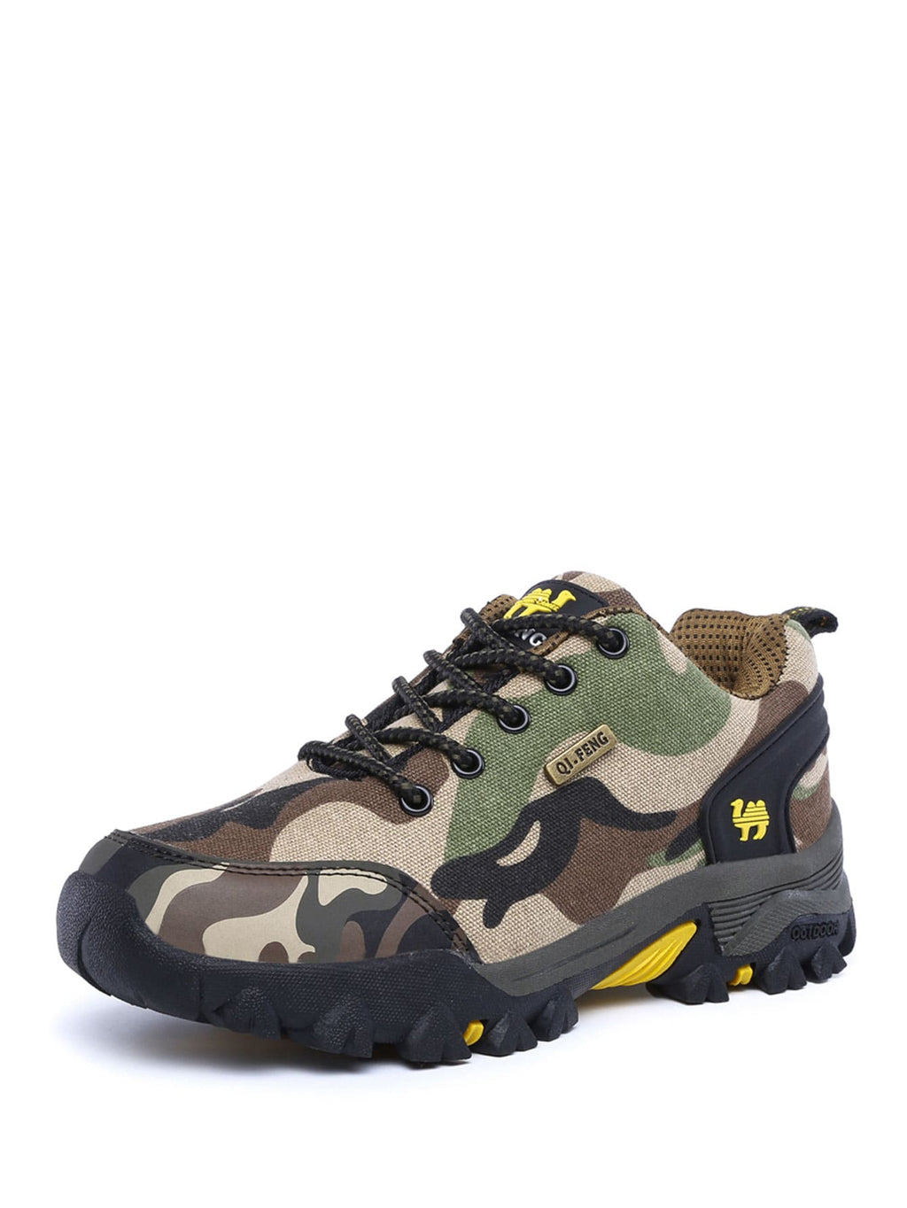 Men Camouflage Print Lace Up Sneakers