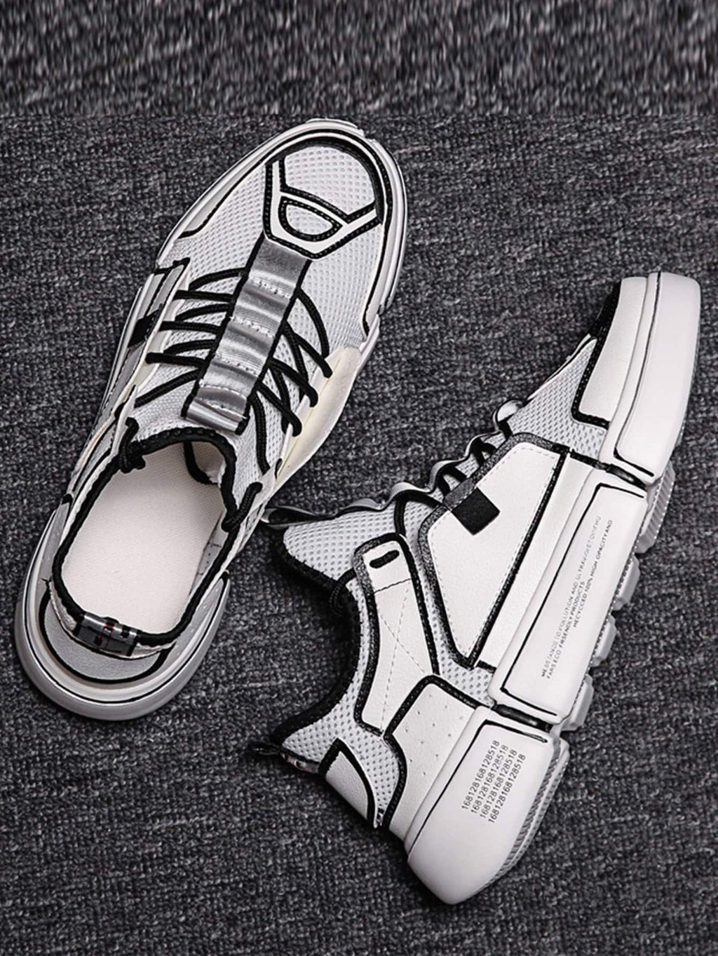 Men Lace Up Mesh Trainers
