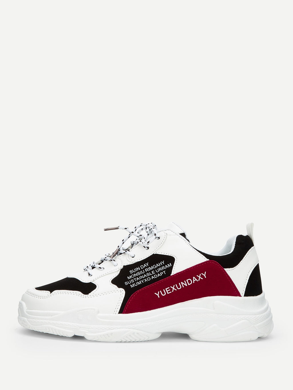 Slogan Print Chunky Sole Sneakers