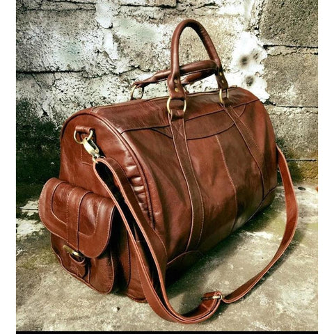 Wanderlust travel bag - tan