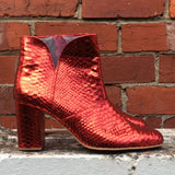 The Joey boot - Red metallic