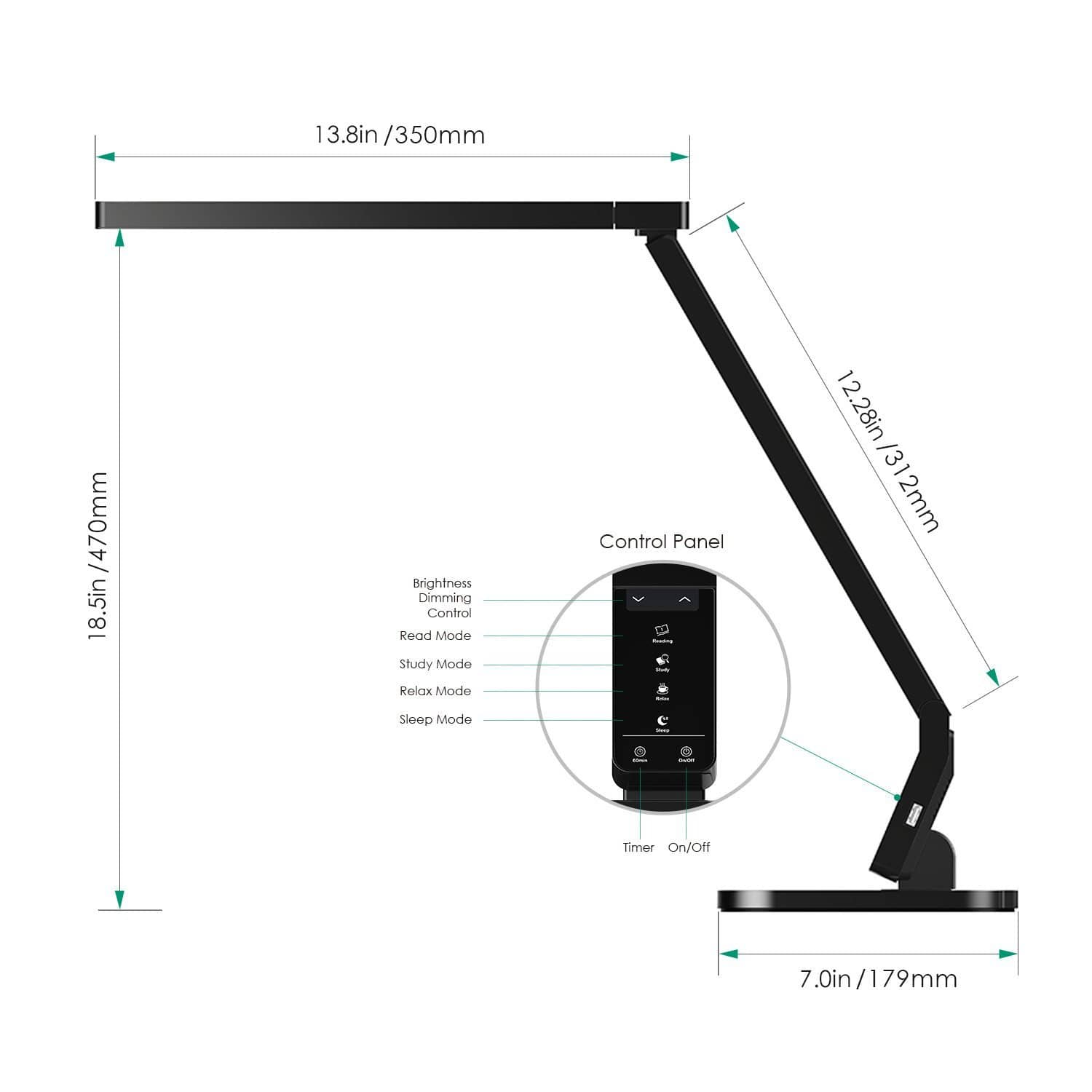Aukey Lt T1 Aglaia Dimmable Led 4 Modes Desk Lamp Aukey