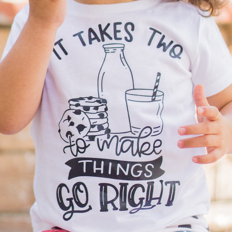 It Takes Two Milk & Cookies - Kids Tee